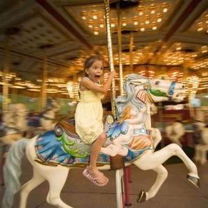 merry-go-round-and-girl