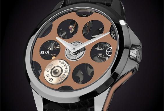 ArtyA Russian Roulette Golden Python Luxury Watch