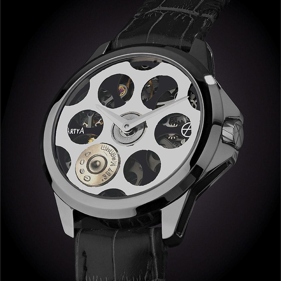 ArtyA Russian Roulette Desert Eagle Steel Luxury Watch