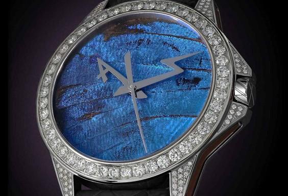 高級時計ブランド アーティアのジュエリーウォッチ Butterfly Set Blue