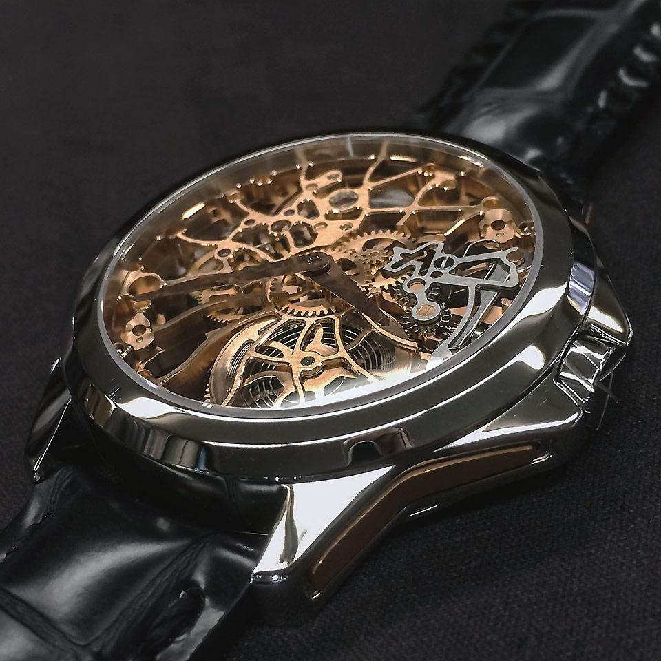 高級時計ブランド アーティアのスケルトン Shams Gold