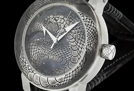 ArtyA luxury art watch Snake