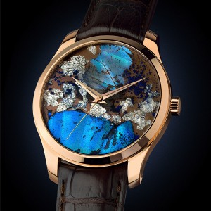 バーゼル新作時計 本物の蝶の羽を使ったバタフライアートウォッチ