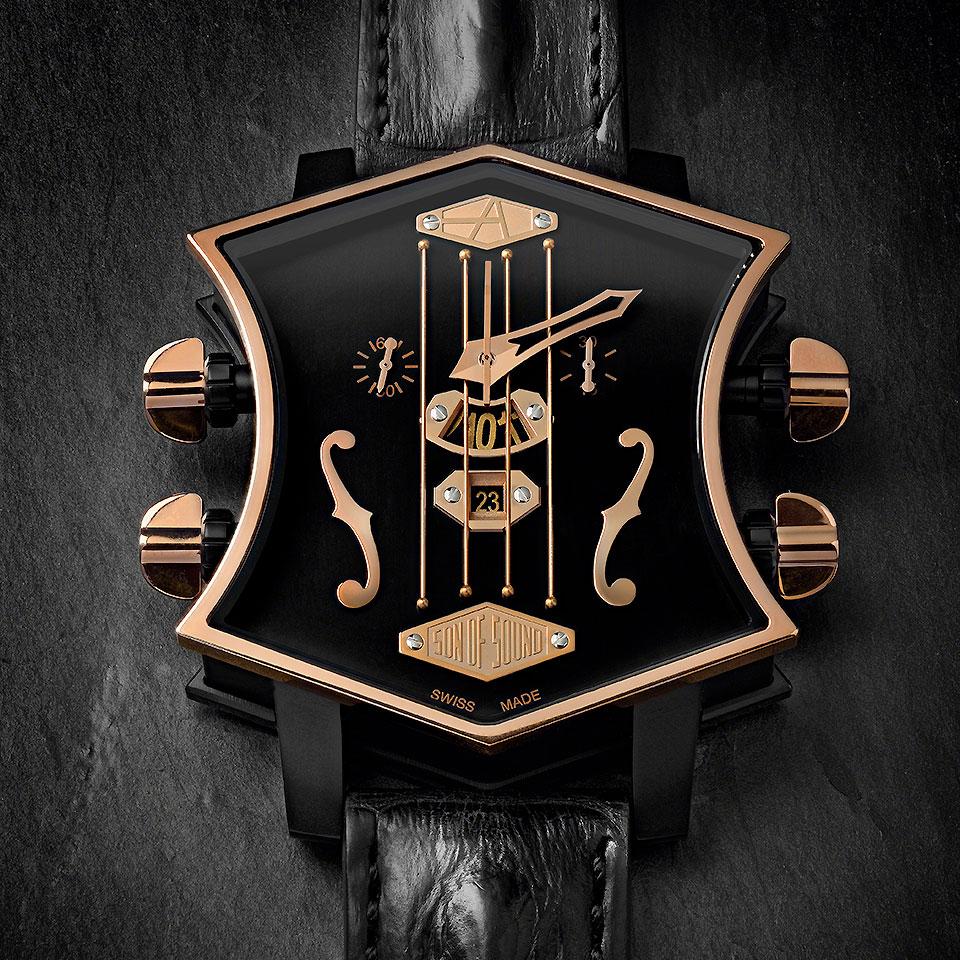 高級時計ブランド アーティアのギターウォッチ新作 Black Gold
