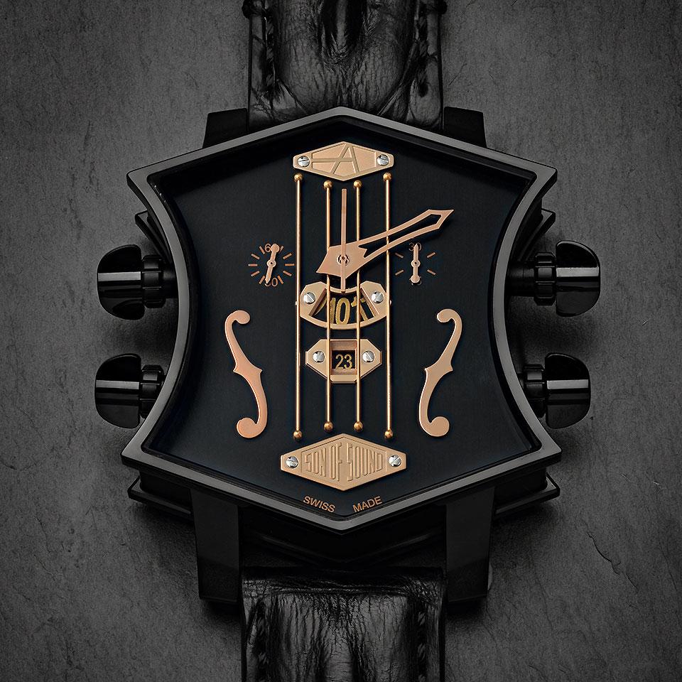 高級時計ブランド アーティアのギターウォッチ新作 Black Gold2