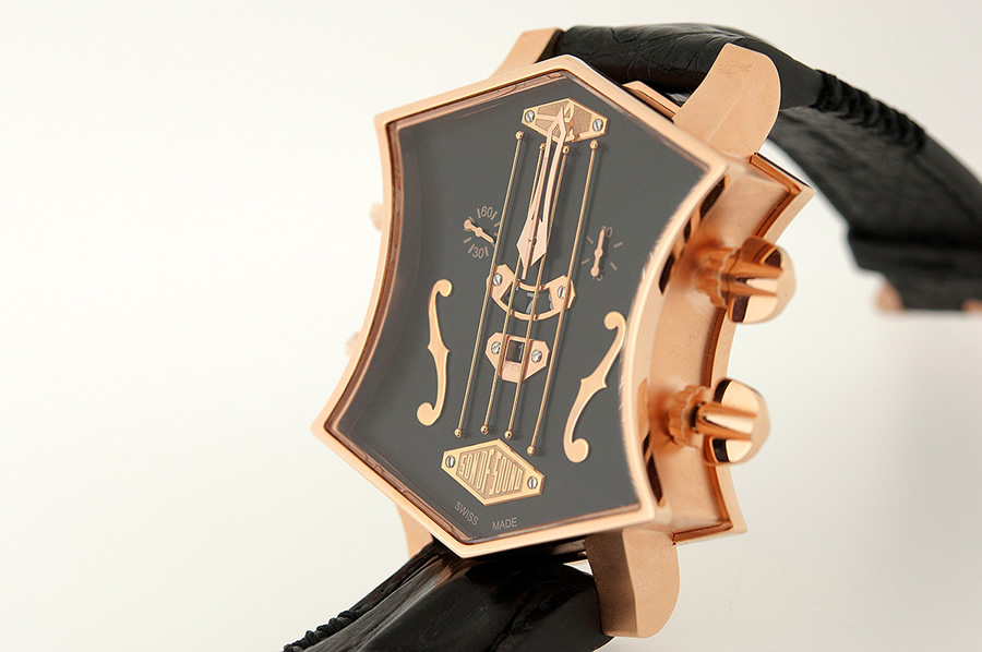 ArtyA Guitar Watch 18K Pink Gold