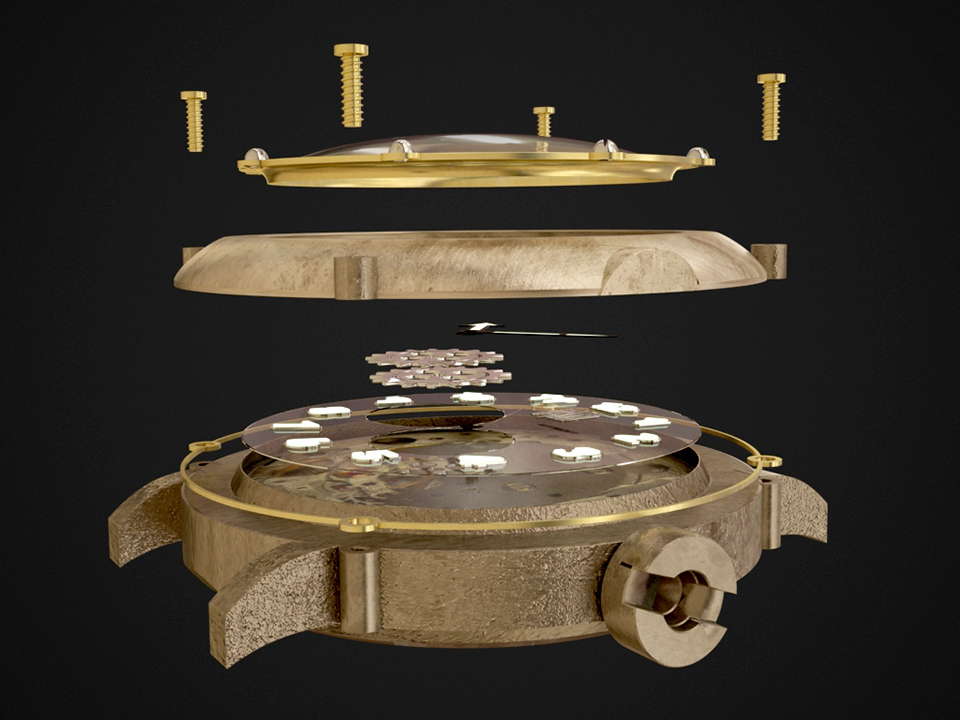 スピーロの時計デザイン