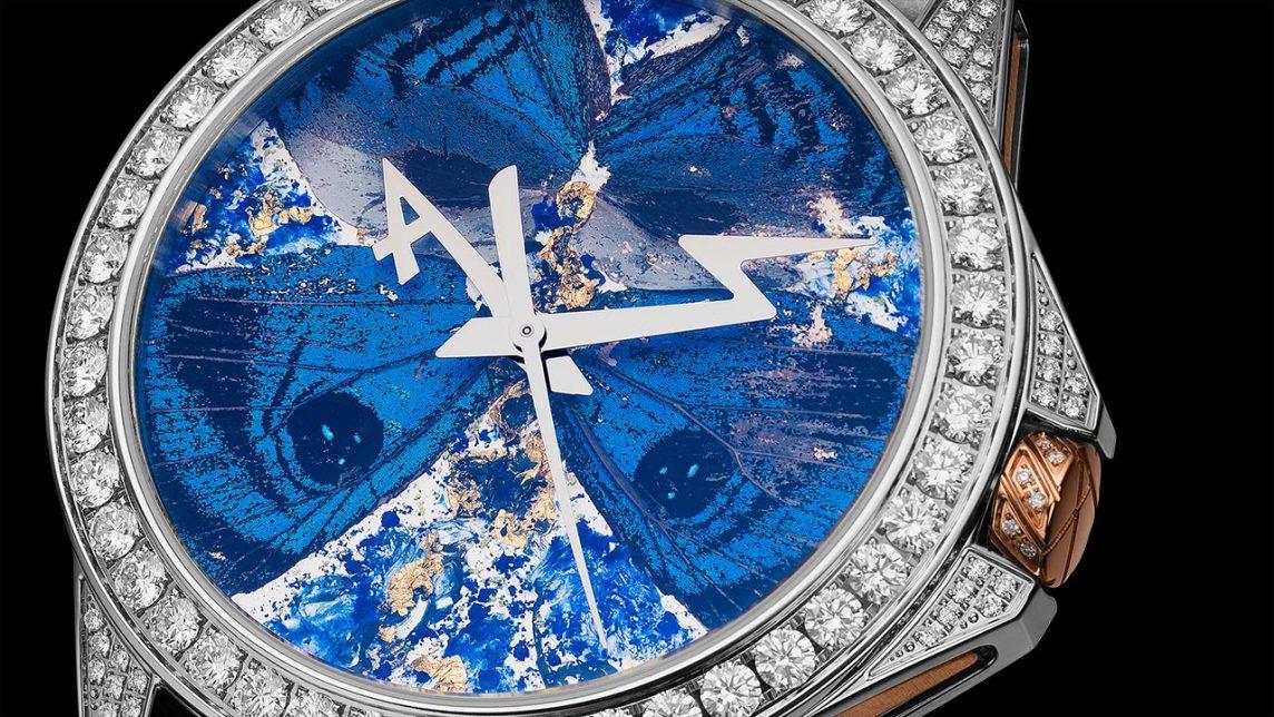 モルフォ蝶の腕時計