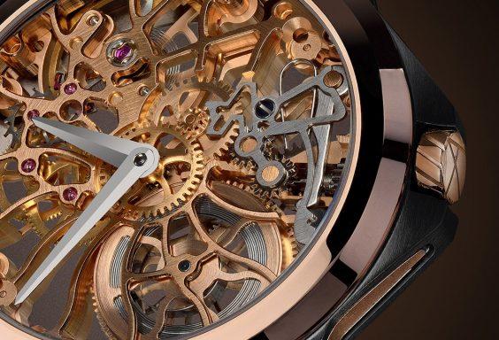 アーティアの人気スケルトン時計